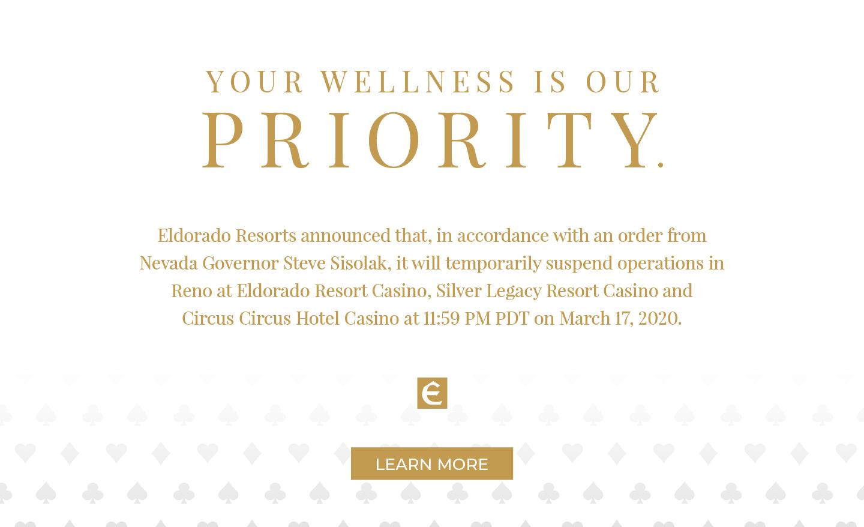 Eldorado Resorts Temporary Closure Message